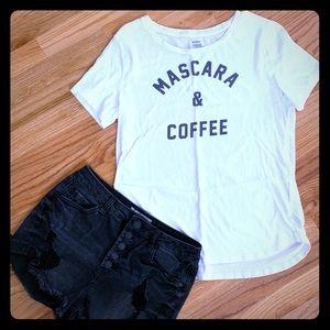 NWOT Mascara and Coffee Tee
